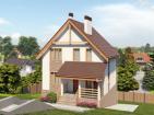 Одноэтажный дом с мансардой и подвалом